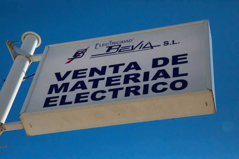 tienda de material eléctrico